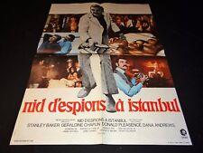 NID D'ESPIONS A ISTANBUL affiche cinema espionnage 1972 no bond
