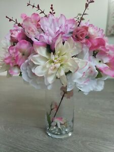 5pc Wedding vase centerpieces with artificial flowers