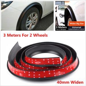 3M*40mm Car Fender Flare Wheel Eyebrow Protector Strips Mudguard Trim SUV Pickup