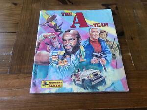 THE A-TEAM Vintage 1983 Figurine Panini Sticker Album 100% Complete BA HANNIBAL