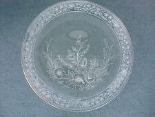50-er Jahre Kuchenplatte Glas Verzierung Goldrand 32 cm