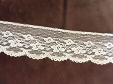 Off White Net Flower Lace Trim  1 3/4 inches   2 yard