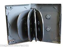 New 2 Pk MegaDisc Black Multi DVD Case Box 33mm 12 Discs Holder W Flap Prem