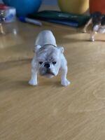 HN1074 - Small; White, Standing Bulldog Royal Doulton