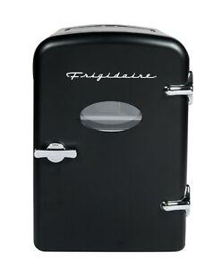 Frigidaire Portable Retro Extra Large 9-Can Mini Fridge EFMIS175 Black Cooler XL