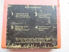 BAD COMPANY 8 TRACK TAPE ROCK STEADY/ CAN'T GET ENOUGH/ DON'T LET ME DOWN