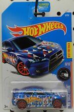 2008 08 LANCER EVOLUTION BLUE  6 TEAM HWGT TUNER RACE CAR HW HOT WHEELS