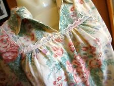 Small True Vtg 70s Hippy Nifty Floral Print Frilly Open Collar Peasant Top