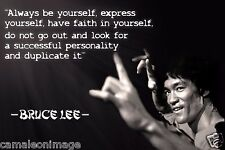 """""""Be You...Self """"Bruce-Lee-Martial-Arts-Quotes  Poster HD Quality 24""""x16"""""""