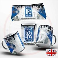 ROLLS ROYCE ,VINTAGE DISTRESSED   COFFEE  MUG 110Z