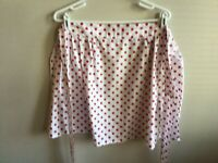 Vintage Half Apron With Red Polk Dots