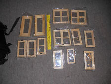 13 pc Doll House Miniature Wooden Window + door w/Frame Furniture Accessory lot