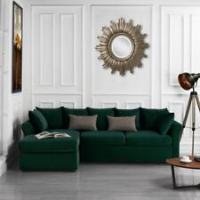 Classic Living Room Furniture Modern Sectional, Large, Green