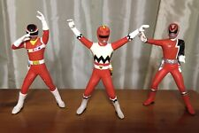Power Rangers 15th Anniversary Epic Red Rangers Set of 3 Figures Bandai 2007