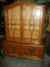 Vintage Beligum French Chippendale style China Cabinet
