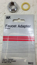 FAUCET ADAPTER BRASS REPLACEMENT 3/8 STOCK # 9602 NEW