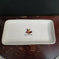 Rae Dunn Christmas Deck The Paws Platter Tray Rectangle Dish Holiday 14x7 New