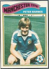 TOPPS 1978 FOOTBALLERS #187-MANCHESTER CITY & ENGLAND-PETER BARNES