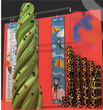 25' Rock Climbing Wall x3 - 30' Tower - Pillar Poles Course Structure Inflatable