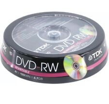 More details for 10 x tdk blank dvd-rw disc (4x 120min 4.7gb) video/data dvd re-writable