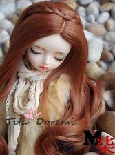 Bjd Doll Wig 1/3 8-9 Dal Pullip AOD DZ AE SD DOD/LUTS Dollfie brown Toy Hair