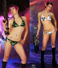 Cryoflesh Biohazard Cyber Goth Industrial EDM EDC Rave Bikini Swimsuit XS-XL