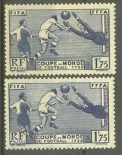 "FRANCE STAMP TIMBRE N°396 ""COUPE MONDIALE FOOTBALL,1938,2 COULEURS"" NEUFS xx TTB"
