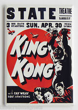 King Kong FRIDGE MAGNET (2.5 x 3.5 inches) window card movie poster fay wray