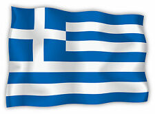 Grecia Greece Griechenland bandiera etichetta flag sticker 15cm x 11cm