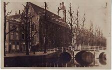 Netherlands Academie Leiden gezien van bet Rapenburg circa 1930 unused postcard