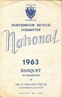 [28049] 1963 NORTHBROOK BICYCLE COMMITTEE NATIONAL BANQUENT OF CHAMPIONS PROGRAM