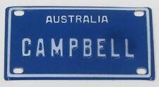 CAMPBELL NOVELTY NAME MINI TIN AUSTRALIAN LICENSE NUMBER PLATE