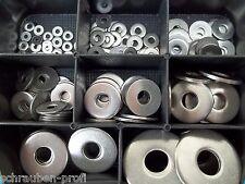 Karosseriescheiben Sortiment / Set 150 Teile EDELSTAHL V2A A2 4,3/5,3 M4 M5 BOX