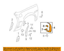 Chevrolet GM OEM 06-13 Corvette Fender-Wheel Flare Molding Left 15818637