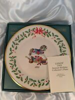 Lenox China 2nd Annual Holiday Christmas Plate 1992 Rocking Horse & Toys w Box