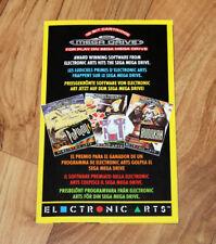 Sega Genesis Mega Drive Ad Poster Flyer Zany Golf Sword of Sodan Populous etc