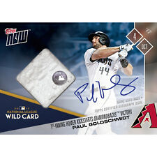 PAUL GOLDSCHMIDT SIGNED 2017 WILDCARD HOMERUN GAME USED BASE CARD TOPPS NOW 698B