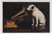 HIS MASTER'S VOICE: Postcard sized Gramophone advertising card (C34013)