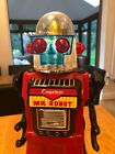1960s Vintage Yonezawa Japan Tin Cragstans Mr. Robot In Fully Working Condition