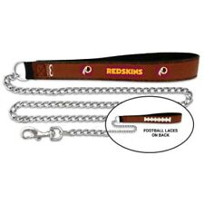 NFL Washington Redskins Football Leather Pet Leash, Large 1 In Wide 4 Ft Long