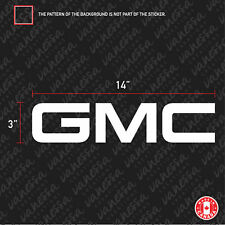 2X GMC 14 INCHES sticker vinyl decal