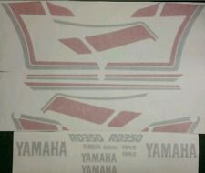 YAMAHA YPVS RD350 F2 DECAL KIT FOR BLACK PAINTWORK.