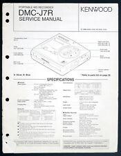 KENWOOD DMC-J7R Original MD Recorder Service-Manual/Diagram/Parts List o208