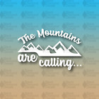 "The Mountains Are Calling John Muir 6"" Hike Camp Explore Custom Vinyl Decal"