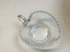 "Candlewick Handled Heart 5-6"" small Serving Bowl Imperial glassware"