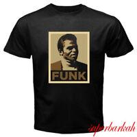 New james brown funk logo Men's Black T-Shirt Size S-3XL