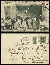 carte postale militaire LIBYE ITALIENNE café' arabo