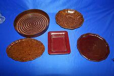 Original 1940/50 Jahre Bakelit 5 teiliges Küchen Set Tablett Schale Untersetzer