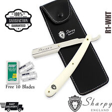 Barber Straight Cut Throat Salon Shaving Razor Quality RASOI Rasierer 10 Blades