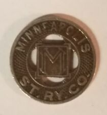 Vintage 1920-1929 Minneapolis St. Ry. Co Good For One Fare, E A Crosby, streetca